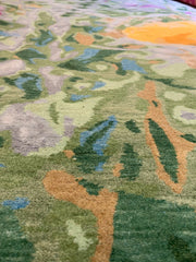 "8223 Wildflowers ""Spring"" by Wool And Silk Rugs 8'1"" x 10'"