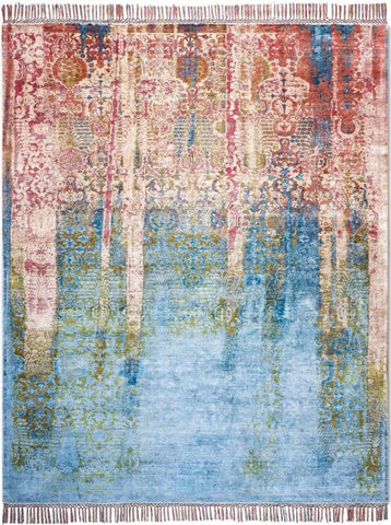 "8316 Isfahan Woods, Multicolor, in 9' x 12'1"" by Rug Star"