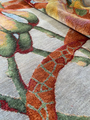 "8318 Orchid No 01, Grey Green, in 8'2"" x 10'1"" by Rug Star"