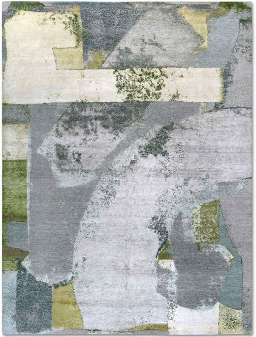 "8331 EasyMe No. 01, Green Rust, in 8'8"" x 12'2"" by Rug Star"