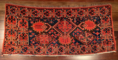 "8335 Late 19th Century Beshir Chuval Bag Panel 3'8"" x 1'7"""