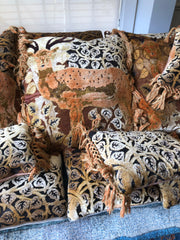 "7996 Art Deco ""Deer"" Pillow"