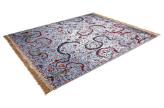 RS-0001 New Classic Reverse Tabriz Light Blue Rug Star Christiane Millinger side