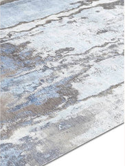 RS-0130 Waterlily NO 08 in Silver and Blue, in 10' x 14', by Rug Star