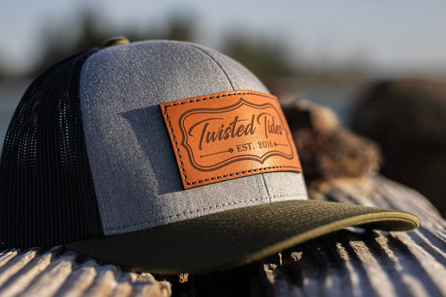 Tri-Color Leather Patch Hat