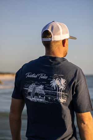 Denim Blue Surf's Up Tee