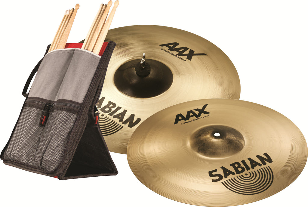 "Sabian AAX-plosion 16"" and 18"" Crash set"