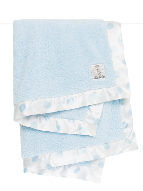Chenille New Dot Baby Blanket - Blue