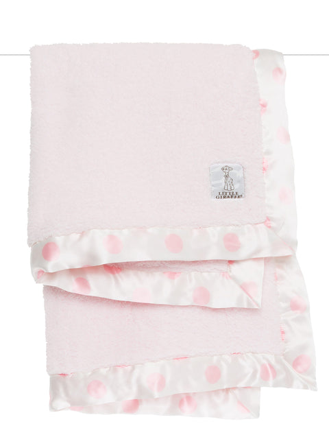 Chenille New Dot Baby Blanket -Pink
