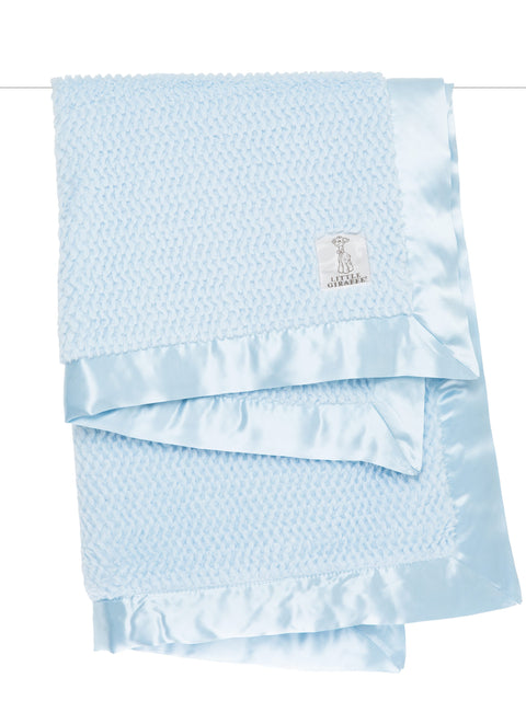 Luxe Twist Blanket Blue