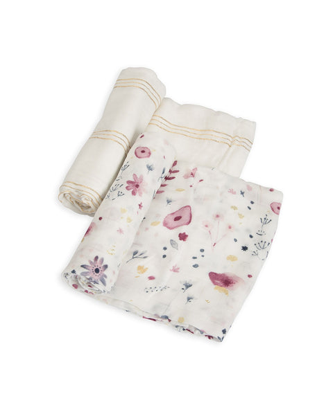 Cotton Muslin Swaddle 2 Pack- Fairy Garden Set