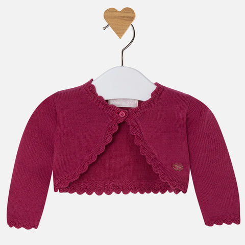 Short Cardigan - Raspberry