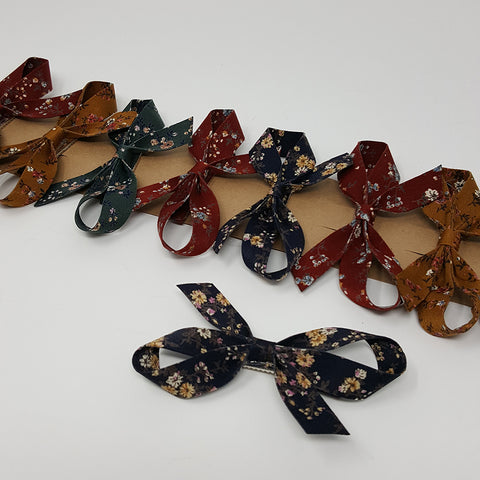 Bow Hair Clip - Flower Print