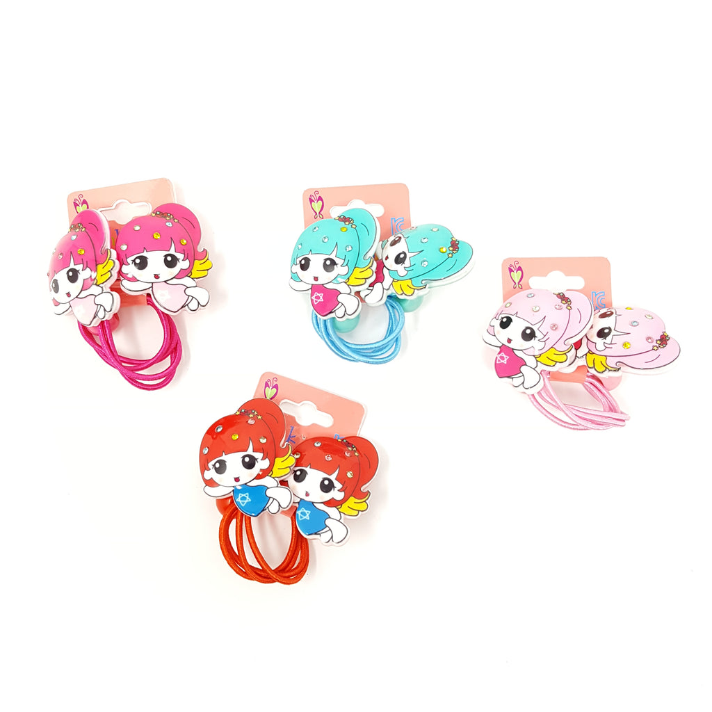 Anime Girl Hair Ties (1 pair)