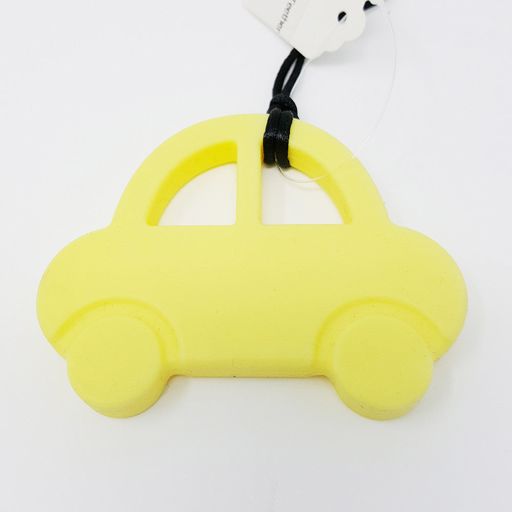 Silicone Teether Car Yellow