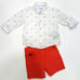 2-piece Shorts and print shirt set - Granadine