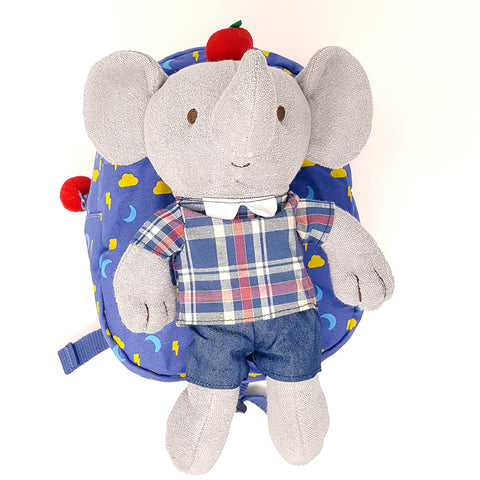 Harness backpack with detachable plush toy- Elephant