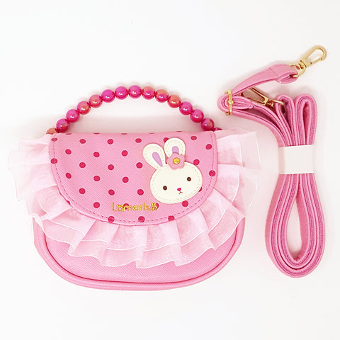 Girl's Handbag-Pink Bunny with ruffle