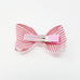 3D bow hair clip - Stripe