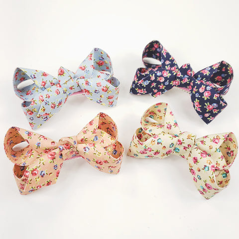 Country Flower Bow Clip