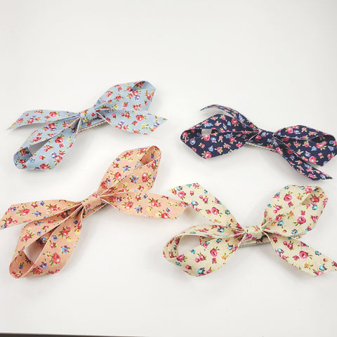 Country Flower Long Bow Clip