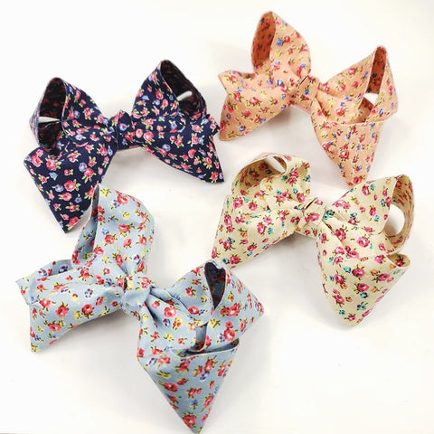 Country Flower Jumbo Bow Clip