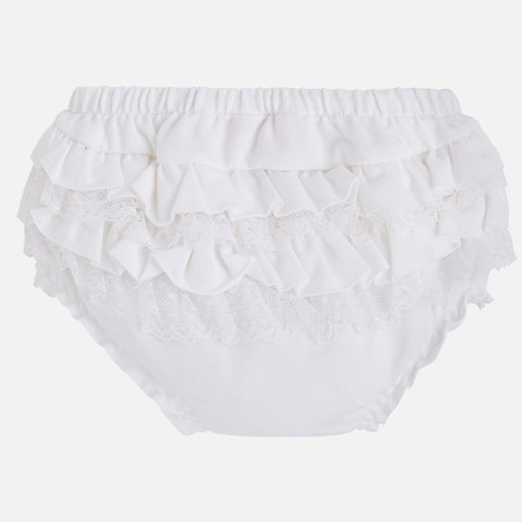 Knickers with Frills - White