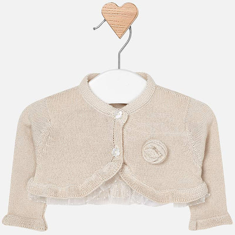 Dressy Knit Cardigan - Golden