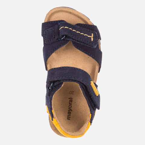 Leather Sandals - Navy