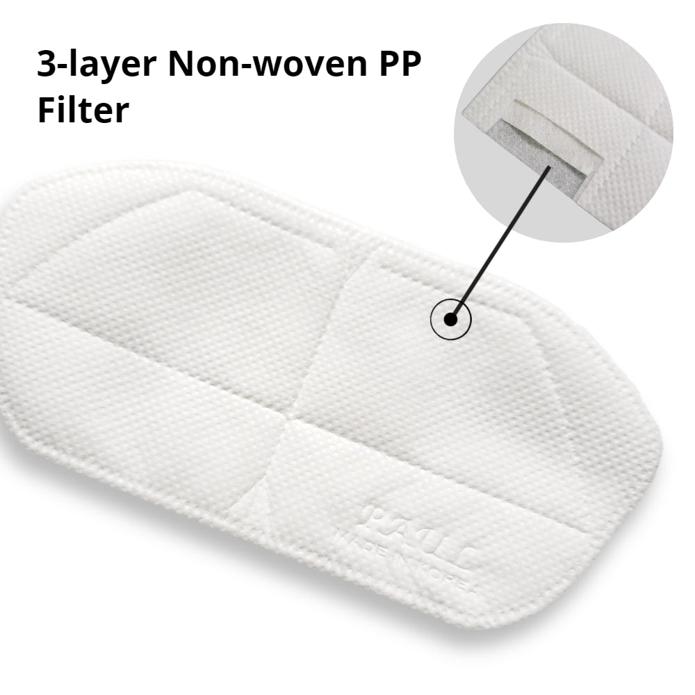 3-layer Non-woven PP filter inserts for Reusable (pack of 10)-for Kids masks