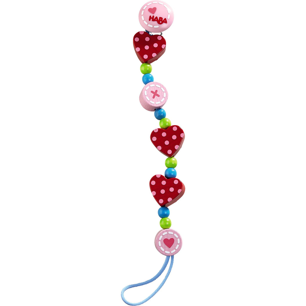 Pacifier Chain Heart to Heart