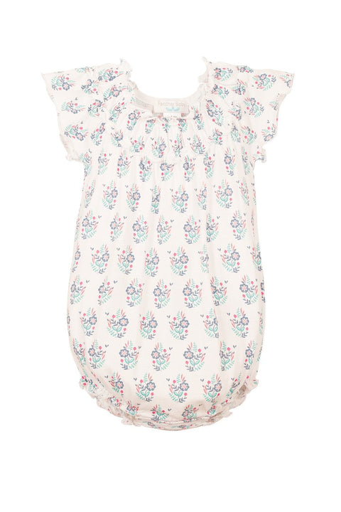 Ruched Bubble Onesie - Samantha on White