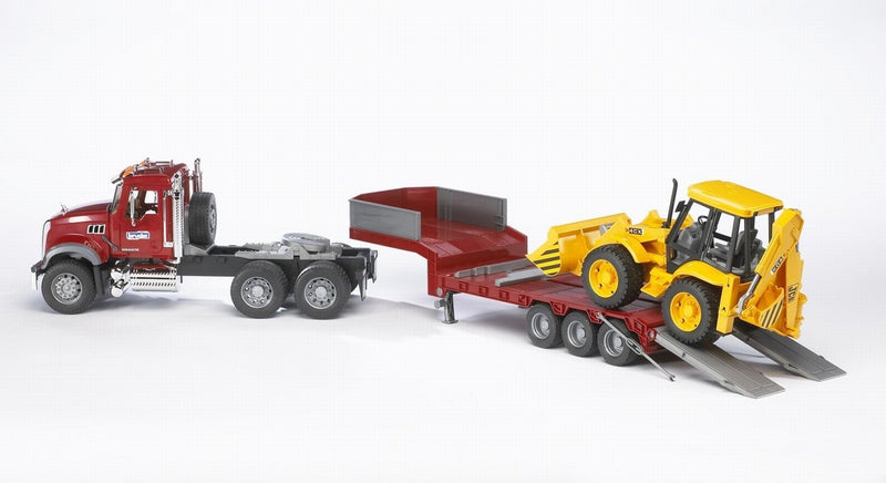 Mack Granite Truck With JCB