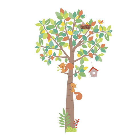 Woodland Creatures Tree Wall Decals