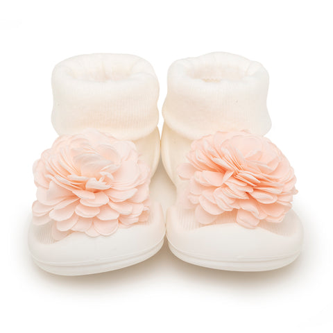 Komuello Baby Shoes - Corsage White