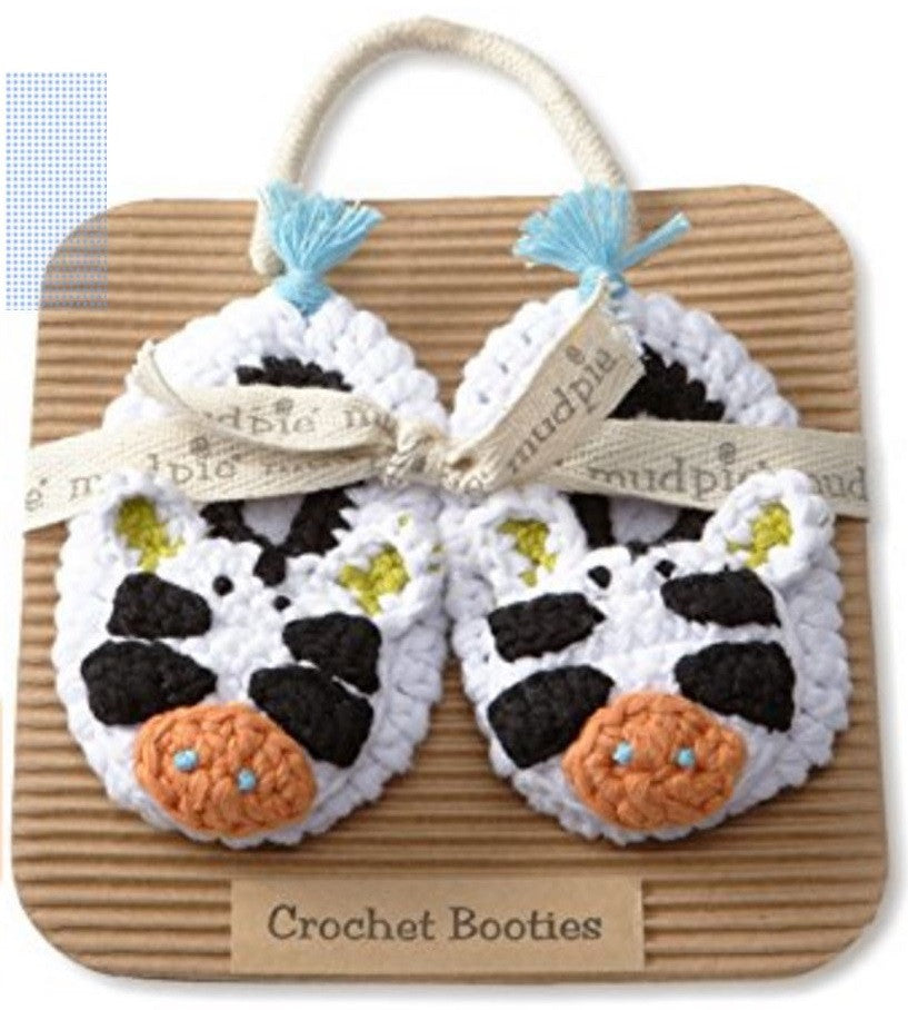 Mud Pie Newborn Safari Zebra Crochet Bootie
