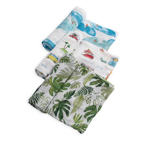 Cotton Muslin Swaddle 3 Pack-Summer Vibe Set