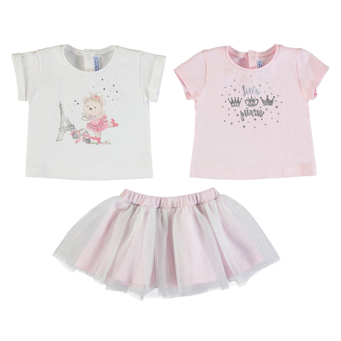 3 Piece Skirt Set - Rose