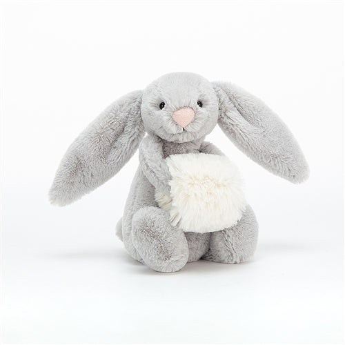 Bashful Grey Snow Bunny Small