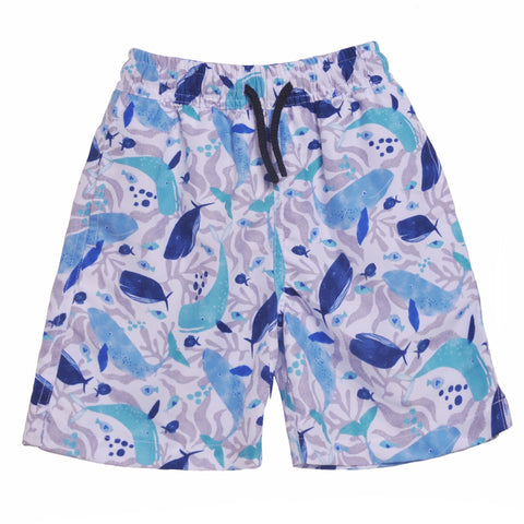 Boys Swim Trunk- Whales
