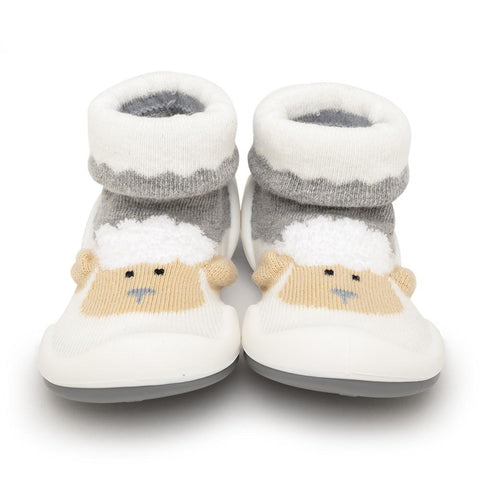 Komuello Baby Shoes - Little Lamb - Heather Grey