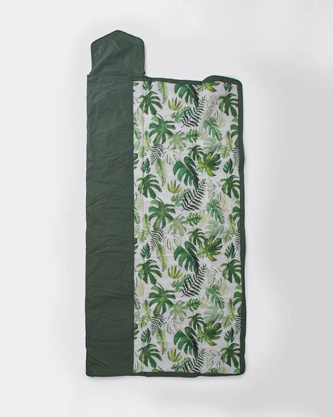 Outdoor Blanket 5x7 - Tropical Leaf