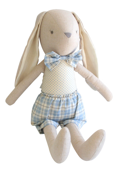 Louie big Bunny Linen - Blue 22""