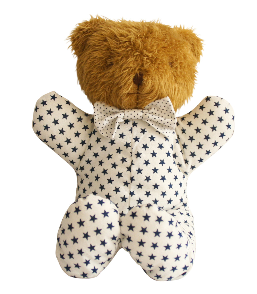 Baby Sleepytime Bear - White Navy Star 25cm