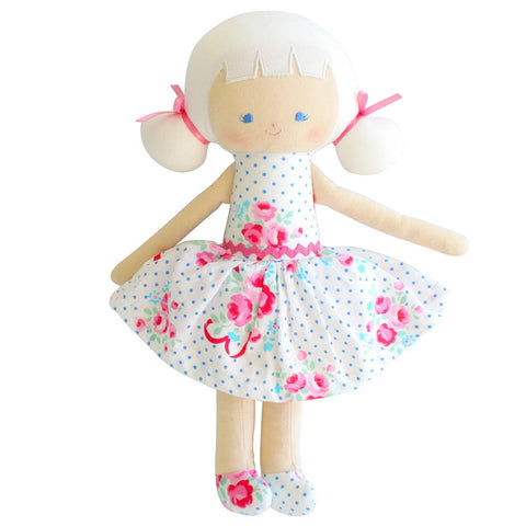 "Audrey Doll 10"" - Blue Bows & Rose"