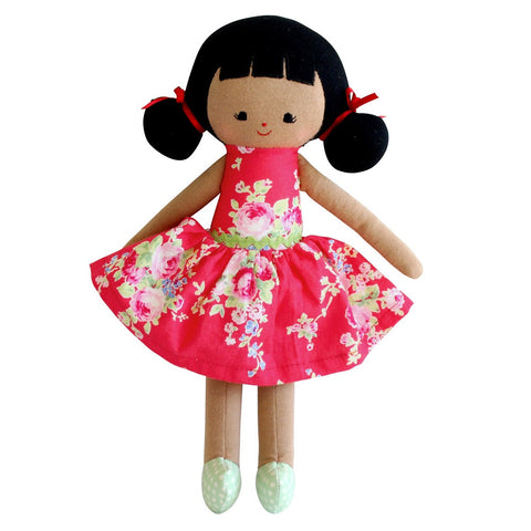 "Audrey Doll 10"" - Red Floral"