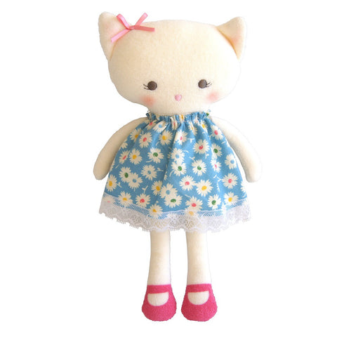 "Kitty Doll 13"" - Blue Floral"