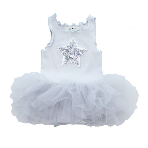 Baby Star Onesie Tutu Dress-Gray