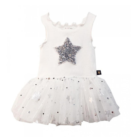 Sparkel Star Baby Tutu Dress - White