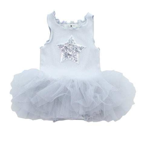 Baby PH Star Tutu Dress - Gray